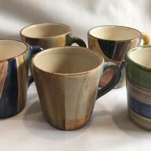 Tazas cónicas de cerámica